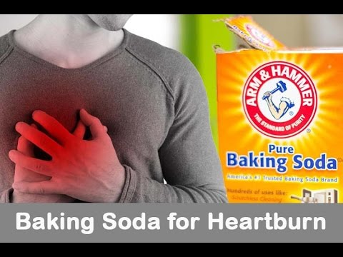 Heartburn home remedy (Baking Soda/Water)